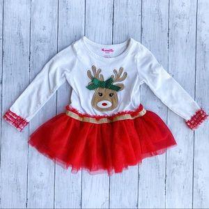 Nannette Kids Rudolph Christmas Dress Size 3T